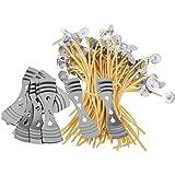 MagiDeal 10 Piezas Dispositivo Centrado + 50 Mechas de Vela Cera Abejas Accesorios Artesanía Manualidad Hogar Costura Arte Decoración Casa Jardín Coser