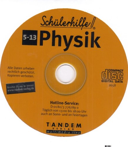 Schülerhilfe CD-Rom Physik Klasse 5 - 13 Lernsoftware Lernhilfe Lernen