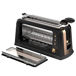2-Scheiben-Toaster-mit-Glas-Fenster-und-Sandwich-Zange-fr-Toastis-Sandwich-und-CO-XXL-Langschlitz-perfekt-fr-Bagel