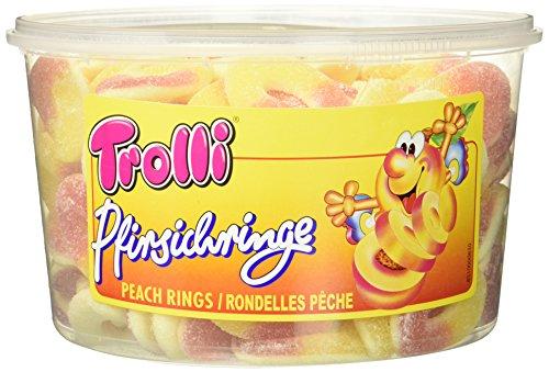 Preisvergleich Produktbild Trolli Pfirsichringe,  2er Pack (2 x 1.2 kg)