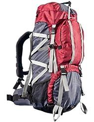 Ultrasport Outdoor- und Trekkingrucksack inkl. Regenhülle, 65+10 Liter