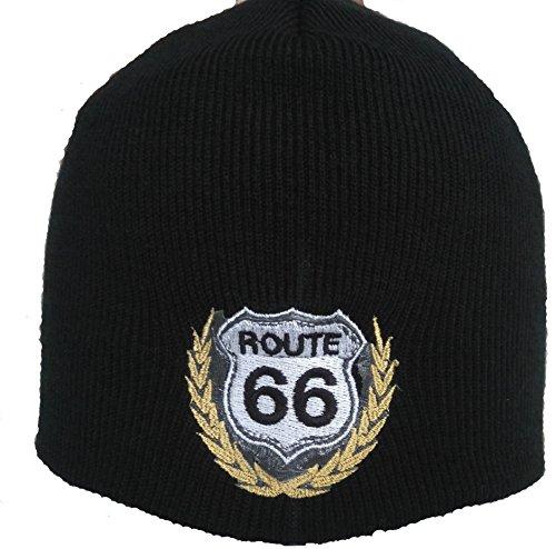 SWC Beanie Route 66 Biker Mütze für Harley Chopper Customs