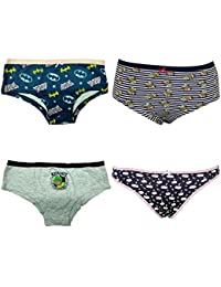 Pepperika Cotton Panties For Girls For 11-12 Years (Pack of 4)