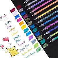 Dyvicl Metallic Gel Pen, 1.0mm Bold Line Dual Metallic Liquid Glitter Gel Pen for Adult Coloring, Doodling, Drawing, Scrapbooking, Card Making, Illustrations, Designs, Bullet Journaling, 12 Colors