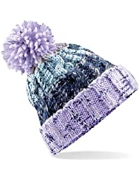 0ce76edbe47 Beechfield Unisex Adults Corkscrew Knitted Pom Beanie Hat