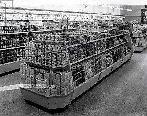 alu-dibond-bild-90-x-70-cm-interior-of-a-woolworths-store-1956-b-w-photo-bild-auf-alu-dibond