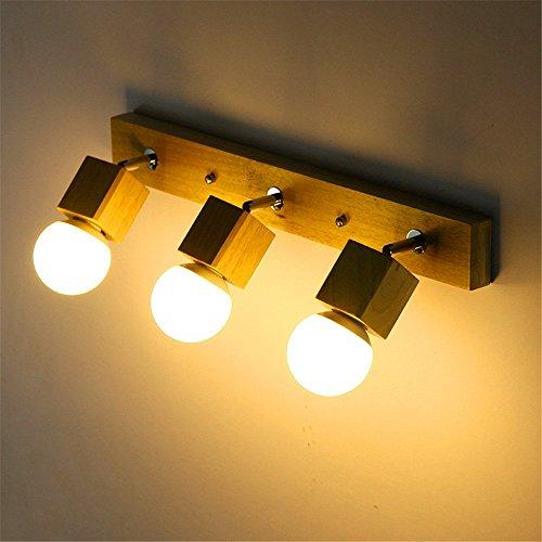Preisvergleich Produktbild ZGYQGOO LED Wandleuchten Wandleuchte Leuchte Up Down Dekorative Wandbeleuchtung Massivholz Spiegel Vorne Lampen Chinesischen Wohnzimmer Wandleuchte Schlafzimmer Nachttischlampe Wc led Holz (8CA0)