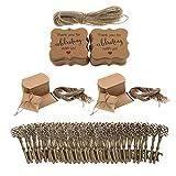 D DOLITY 100 Set Etiqueta para Regalo Caja de Dulces Abrelata en forma Llave Regalos de Fiesta de Casamiento