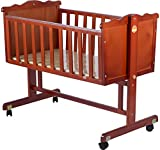 Baybee Wooden Cradle (Dark Brown)