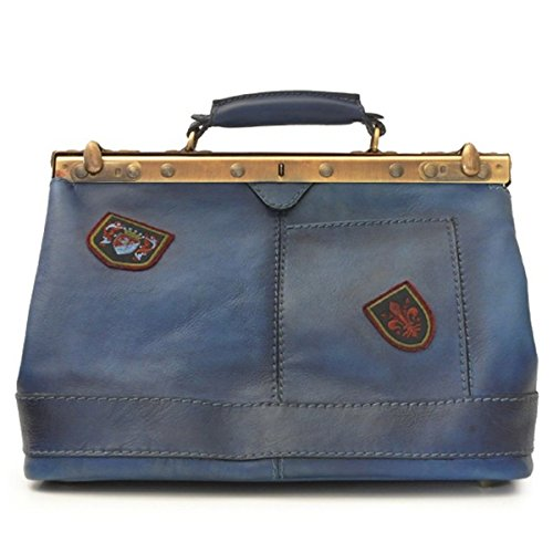 Pratesi San Casciano borsa in vera pelle - B127/35 Bruce (Blu) Blu