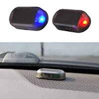 BovoYa Solar Energy Dummy Car Alarm LED Light Simulate Imitation Safety System Flashing Light