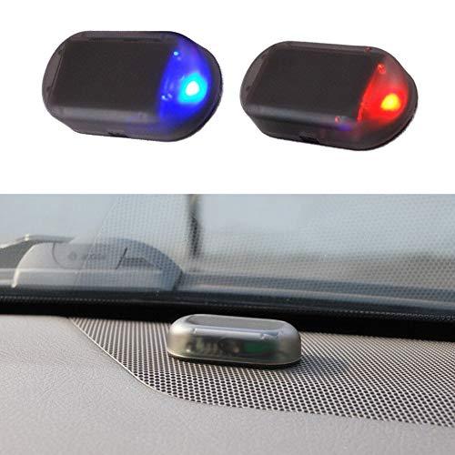 Alarmanlage Auto,Solar Power Dummy Auto Alarm LED Licht Simulieren Nachahmung Warnung Anti Diebstahl Blinklampe Auto Alarmanlage Diebstahlsicherung für Auto Sicherheitssystem