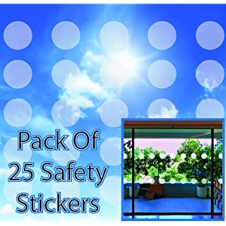 ALL PERSONALISED GIFTS Circular Safety Stickers Decals for Glass Windows Etched Effect - Pack of 25
