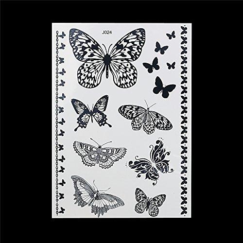 Nero klebe tattoo farfalla bj024gioielli tattoo orient tattoo da incollare per koeper e mano butterfly black lace tattoo per party vestiti