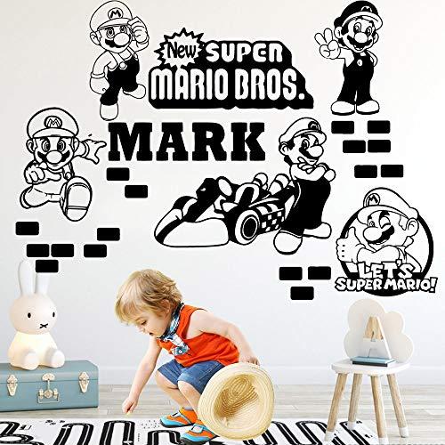 Applikation D Super Mario Wohnkultur Moderne Wandaufkleber Gameroom Schlafzimmer Dekoration Kinderhaus Für Kinderzimmer Dekorcm xcm