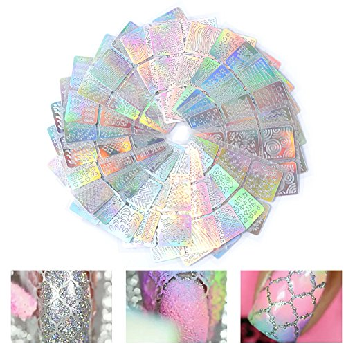 HERME 24/Set Hohl Holografische Maniküre Nail Art DIY-Aufkleber (Halloween-dekoration Verkauf)