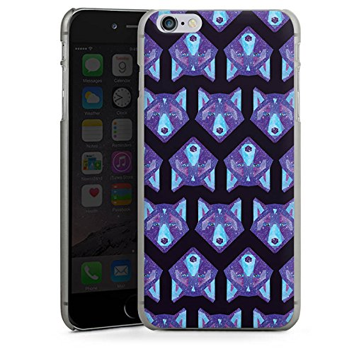Apple iPhone X Silikon Hülle Case Schutzhülle Space Wolf Muster Galaxy Hard Case anthrazit-klar