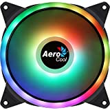 Aerocool DUO14, Ventilador 140mm, ARGB LED Dual Ring, Antivibración, 6 Pines