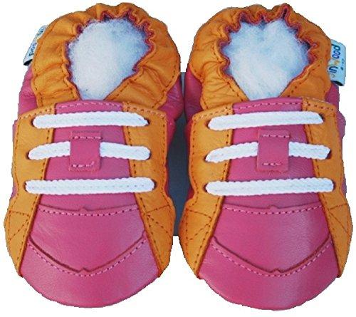 Jinwood , Chaussures souples pour bébé (fille) Rose - Rose