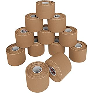 BB Sport 12 Rolls Kinesiology Tape 5 m x 5 cm in different colours, Colour:skin-coloured