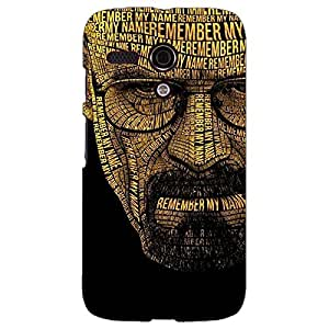 Jugaaduu Breaking Bad Heisenberg Back Cover Case For Moto G (1st Gen)