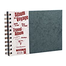 Clairefontaine 'Age Bag' Travel Album, A4, Lined & Margin, 80 Pages - Grey