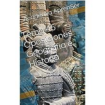 Tema 45 - Oposiciones Geografía e Historia