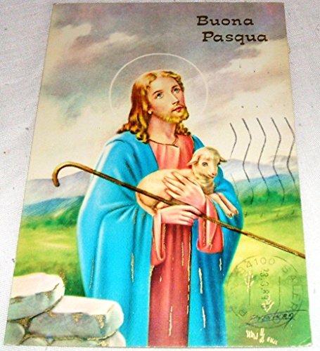 Cartolina buona pasqua - illustrata da ventura - viaggiata 1989