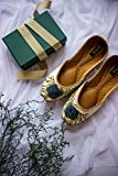 The Dancing Peacock Shoes by Enhara, Bridal Shoes, Off White Flats Shoes, Wedding Shoes - Handmade Indian Designer Women Shoes or Slippers