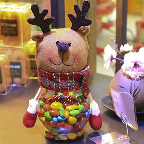 kineca Weihnachtsplüsch und Kunststoff-Süßigkeit Container Weihnachten Süßigkeiten Container Süßigkeiten Dekorative Keksdosen Ferien