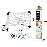 Jeval Soccer Goal Set, 1 Set Portable Kids Soccer Goals Football Goals Set