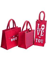 H&B Beautiful, Trendy & Stylish Jute Handbag/ Quality Lunch Bag/ Gift Bag, Love Bag For Valentine Gift, Gift Love...