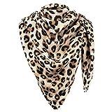 MyBeautyworld24 Damen XXL Winter-Schal im Leopardenmuster übergroßer Deckenschal Herbst-Schal Oversized Schal