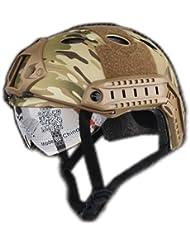 Ejército Estilo Militar SWAT Combate PJ tipo Fast Gafas w/Casco MultiCam MC para la caza airsoft, paintball, Ciclismo