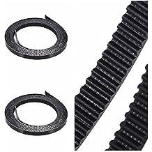 Aibecy 2 pcs 2 mm Pitch 6 mm Goma correa dentada goma Cinturón Polea übermittlungsband con