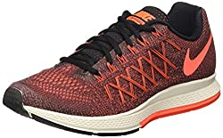 Nike Womens Nike Air Zoom Pegasus 32 Black and Orange Running Shoes - 3 UK/India (36EU)