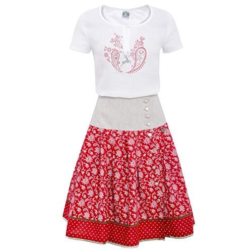 Hammerschmid Trachten Outfit in Weiß/Rot -