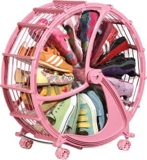 Unique Gadget Shoe Storage Wheel Rack - Pink