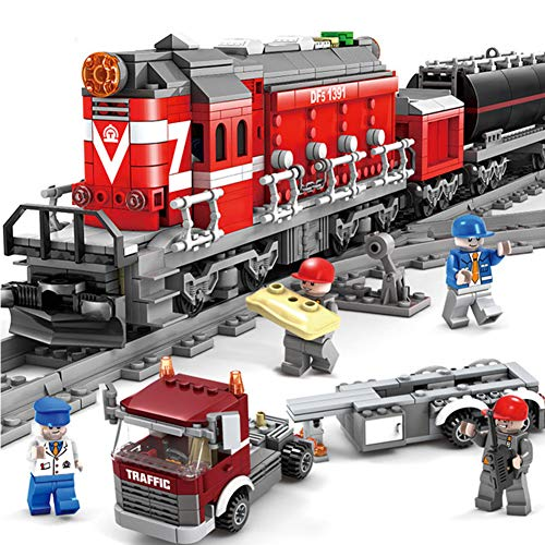 Yyz 1002pcs Technic Series Emerald Night Train Model Building Kits Block Bricks Toys for Children Geschenkzug