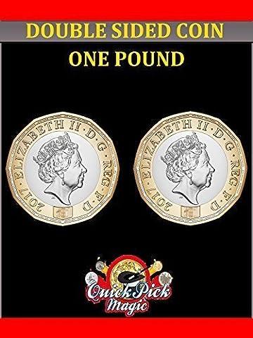 Doppelte Kopf 12 Seitlich Neu Pfund - Köpfe Auf Beiden Seiten - Zweiseitig Münze Trick (12 Magische Münze)