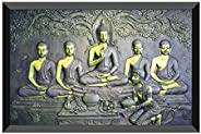 SAF Buddha Design Exclusive Painting with Frame for Home & Office Decoration(35 cm x 50 cm x 3 cm) SAN