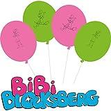 8 Luftballons * BIBI BLOCKSBERG * für Kinderparty und Kindergeburtstag von DH-Konzept // Hexe Deko Ballons Streiche Party Set Marita Florian Moni