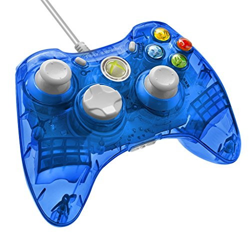 PDP - Mando Con Cable Rock Candy, Licenciado, Color Azul (Xbox 360)