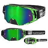TWO-X Rocket Crossbrille Crush schwarz grün Glas verspiegelt grün -