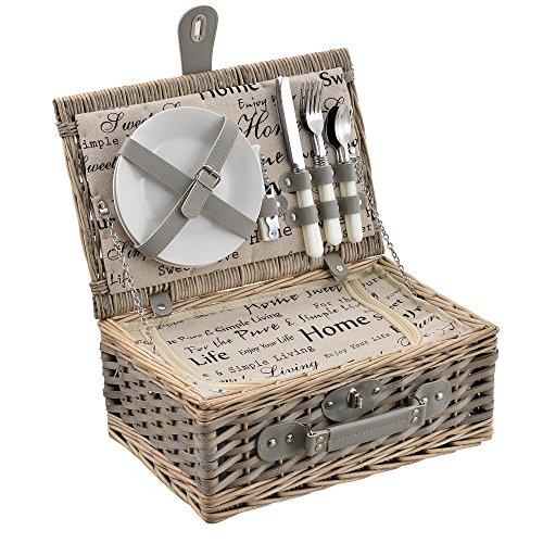 [casa.pro]® Picknickkorb für 2/4 Personen