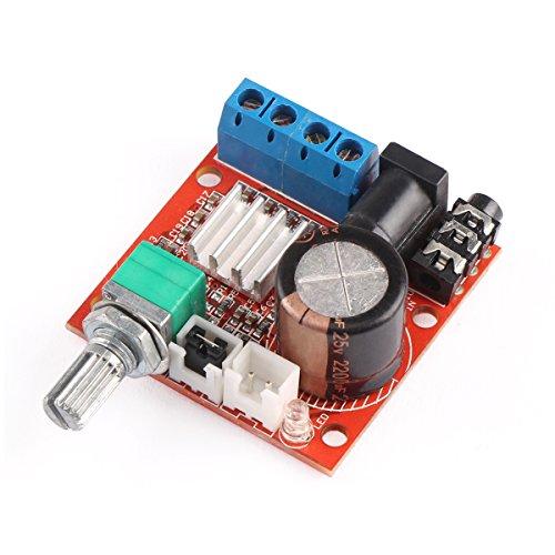 DROK® Mini 2.0 Hi-fi electrónicos de audio estéreo montado portable del amplificador AMP 10W + 10W 2 Módulo Junta Canal de clase D DC 12V digital del amplificador Booster para MP4 CD MP3 altavoz de la PC auto del coche de la motocicleta al aire libre uso de interior