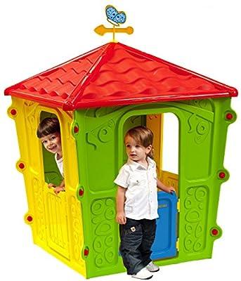 luxurygarden–Haus für Kinder Spielhaus Kinder Garten Spiel Outdoor Kunstharz cm. 108x 108x 152 von Luxurygarden auf Gartenmöbel von Du und Dein Garten