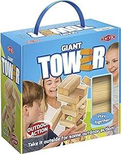 Tactic XL Tower Estuche de Juego - Juegos y Juguetes de Habilidad/Activos (Estuche de Juego, Madera, Madera, 7 año(s), Adultos y niños, Niño/niña)
