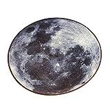 Sharplace Runder Großer Teppich Bodenteppich für Wohnzimmer Couchtisch, Wohnkultur - Mond