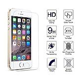 Tenmangu 2-Pack iPhone SE Film Protection décran,Verre trempé écran protecteur ultra résistant pour iPhone 5/5S/5C